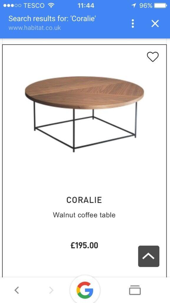 Habitat Cie Walnut Coffee Table