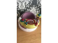 Mamas and papas snug in purple with tray and toys