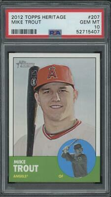 2012 Topps Heritage #207 Mike Trout RC Rookie Gem Mint PSA 10