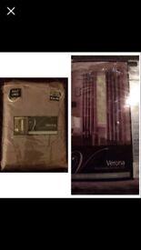 "Brand New Dunelm Verona Curtains, Approx. Width: 90""(228cm), Drop: 54"" (137cm). £34.99 on Price Tag."