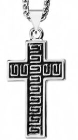 NEW mens cross necklace