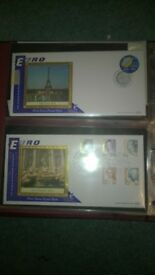 first euro postal rate collection