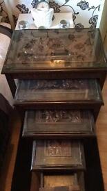 Antique nest off tables