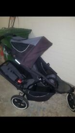 Phil and teds double or single pushchair