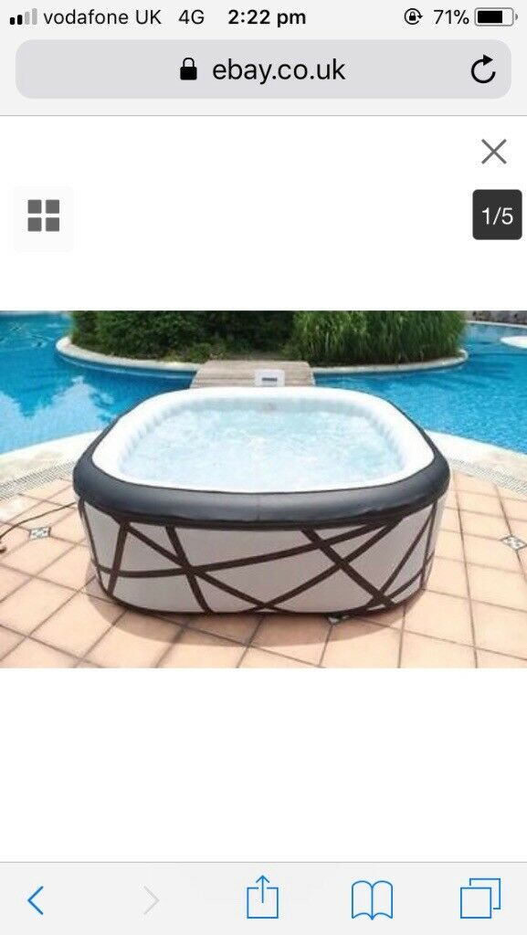 6 seater hot tub jacuzzi bubble