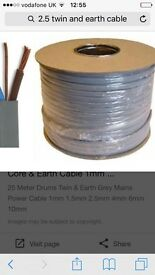 2.5 twin and earth cable 100metres
