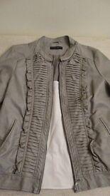 Ladies Faux Leather Jacket, Size 20