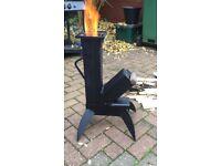 Out door wood fire burner