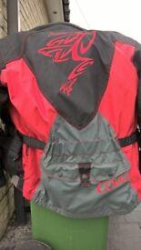 akito cougar motorcycle jacket xl,