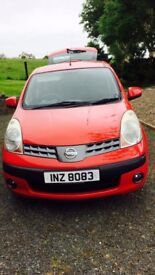 Red Nissan Note, 1.6 Auto, Low milage, 12 months MOT, very clean condition