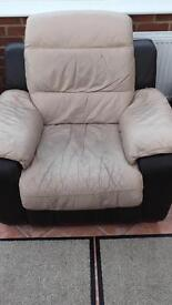 2 seater recliner sofa and electric chair for sale