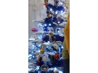 Sale Artificial Christmas Tree Snowy Natural Look 6ft