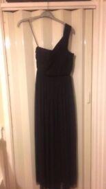 Ladies black chiffon evening dress size 10