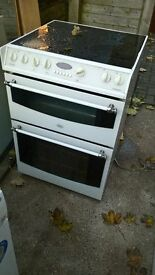 white electric cooker ceramic 60cm..Mint free
