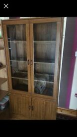 Display cabinet, in good condition, collection only from chelmsford