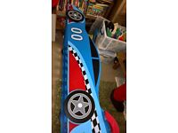 NEARLY NEW RACING CAR TODDLER BED