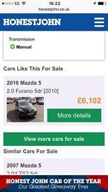 Selling Mazda 5 Furano