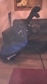 Wilson high Launch R/H full set golf clubs and bag