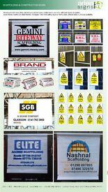 SCAFFOLDING SCAFFOLD BANNERS AND SIGN BOARDS