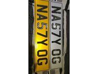 NASTY OG NA57Y OG number plate private reg plate