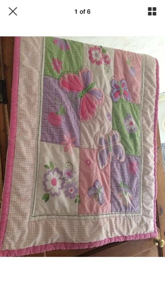 Toddler bedding set butterfly theme