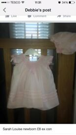 Designer dresses mayoral zip zap ect good condition newborn to 6 months