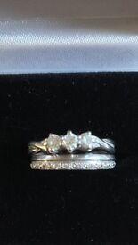 Platinum & Diamond Engagement & Wedding Ring Set.