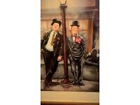 Laurel and Hardy Picture including frame