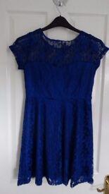 Blue Laced Dress, Size 10