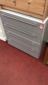 atlas 4 drawer gloss grey chest