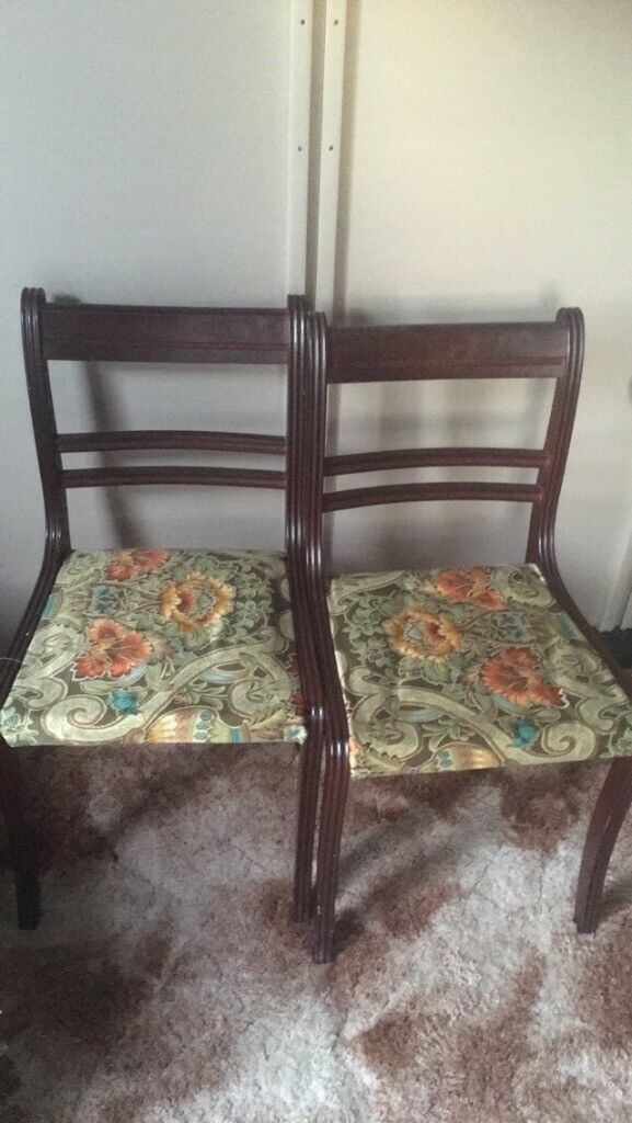 Pair chairs upcycle project shabby chic