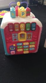 Baby activities box with music lights animals sound phone