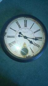 large vintage look wall clock