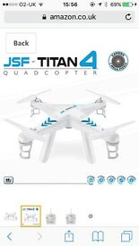 JSF TITAN 4 drone, used once, excellent condition.