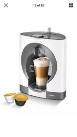 NEW IN BOX (never been used) WHITE NESACFE DOLCE GUSTO OBLO COFFEE MACHINE