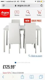 Argos table and chairs