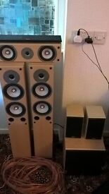 gale speakers + sony receiver