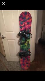 Burton snowboard and blinders ... beautiful only selling due to health reasons