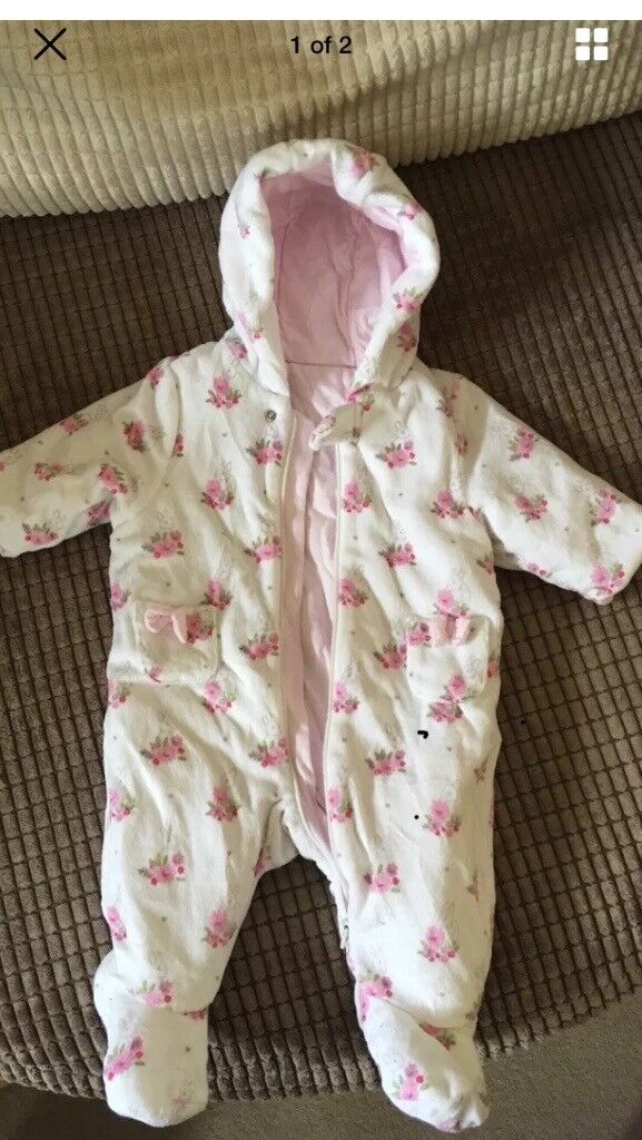 Girls Pram Suit 0-3 months
