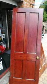 Two Solid Internal Heavy Wood Doors.