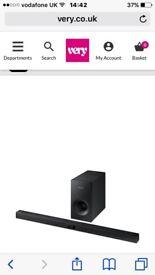 Bluetooth Samsung sound bar and speaker