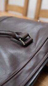 Saba genuine leather laptop bag (unisex)
