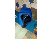"Blue ""GO WALK""dog coat for sale,unused,unwanted present.Fits large Lab type dog ,waterproof."
