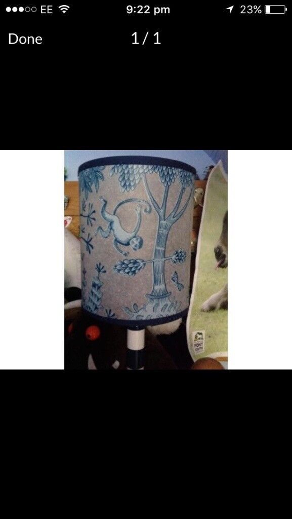 Lush Designs Blue Monkey Lampshade In Bovey Tracey Devon Gumtree