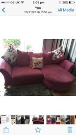 3 seater and cuddle chair very good condition