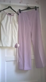 Full Outfit - Beautiful Principles Trouser Suit (Trousers & top) size 10