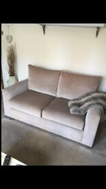 2 X 2 Seater Sofa - Both in excellent condition. One folds out to metal sprun sofa bed.