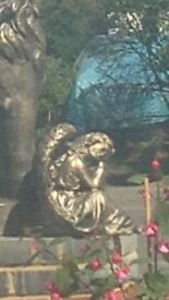 Gorgeous bronze effect angel statue