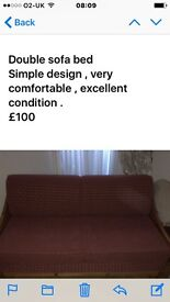 Double sofa bed. Well designed easy to use , comfortable , comes apart for easy removal