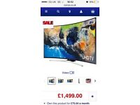 65inch curved smart tv with gold 4K hdmi leads